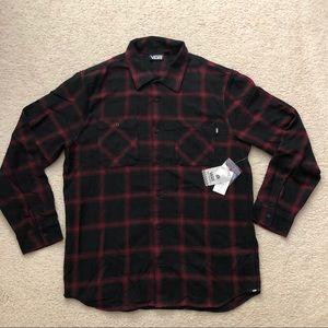 Vans Men's Flannel Button Down Long Sleeve Shirt